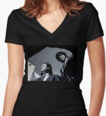 Jules and Vincent Women's Fitted V-Neck T-Shirt