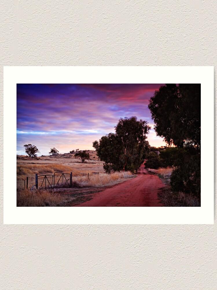 Alternate view of A Walk Down The Lane Art Print