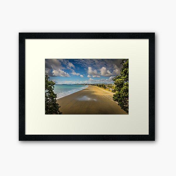 Orewa Beach Framed Art Print
