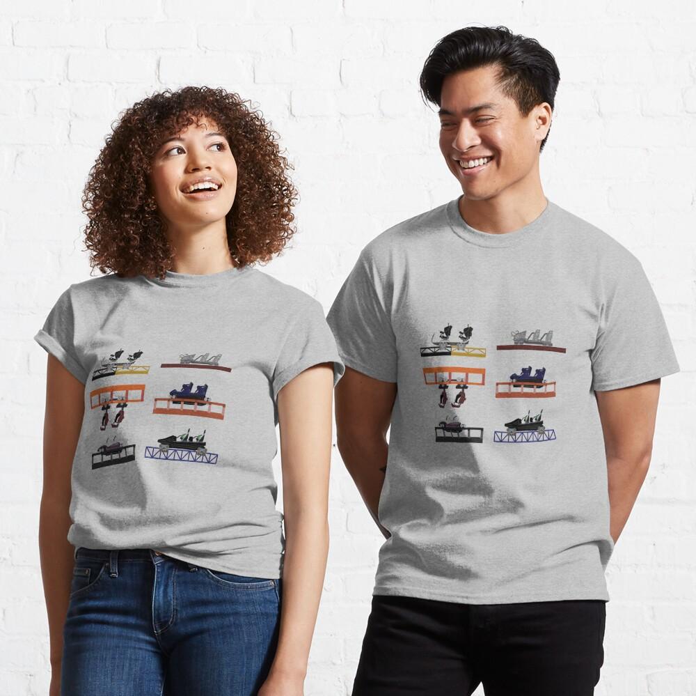 Walibi Holland Coaster Cars Design Classic T-Shirt