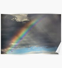 Rainbow and Rain Poster