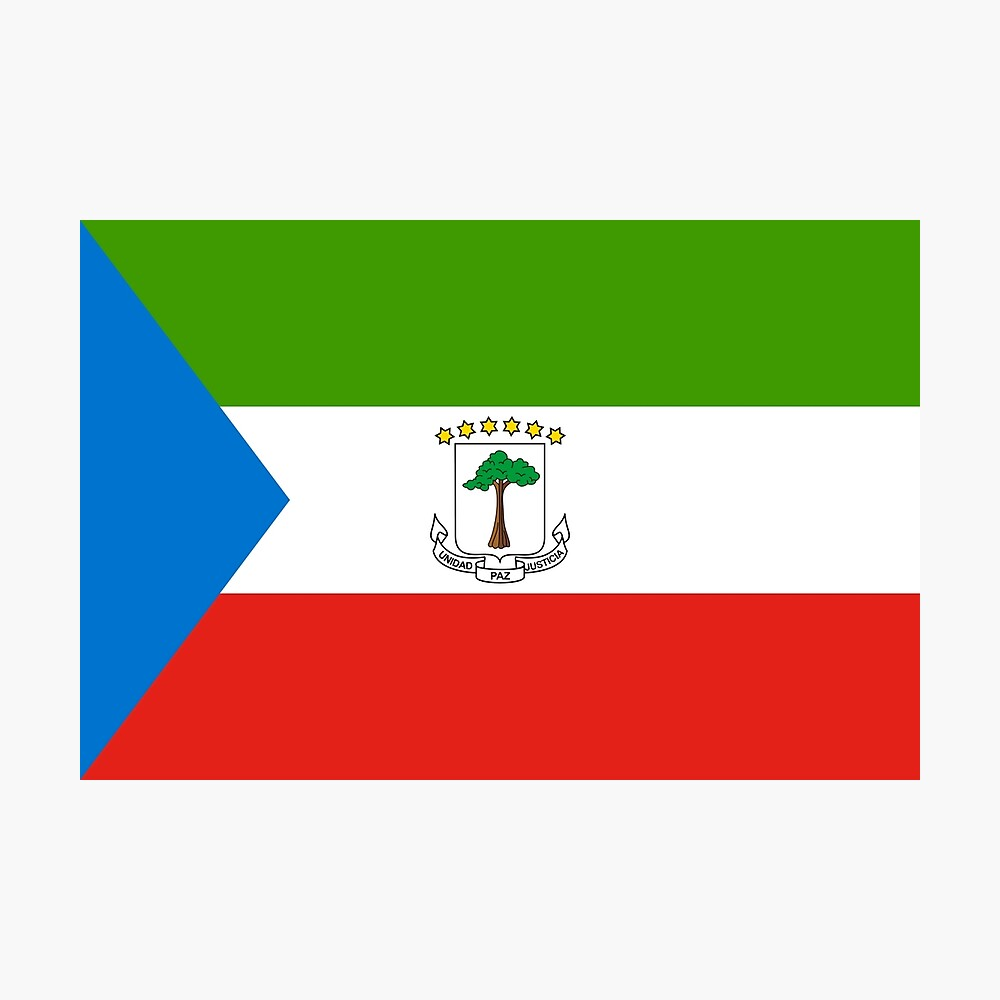 Flag Of Equatorial Guinea Poster By Keep In Mind Redbubble