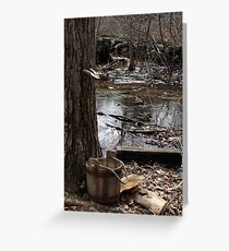 Old Fashioned Sugaring Greeting Card