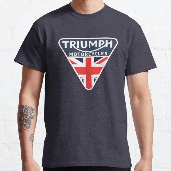 UK Flag Triumph Motorcycles Shirt, Sticker, Hoodie, Mask Classic T-Shirt