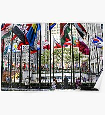The Flags of Rockefeller Plaza Poster