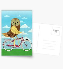 Owl Bicycle Postcards