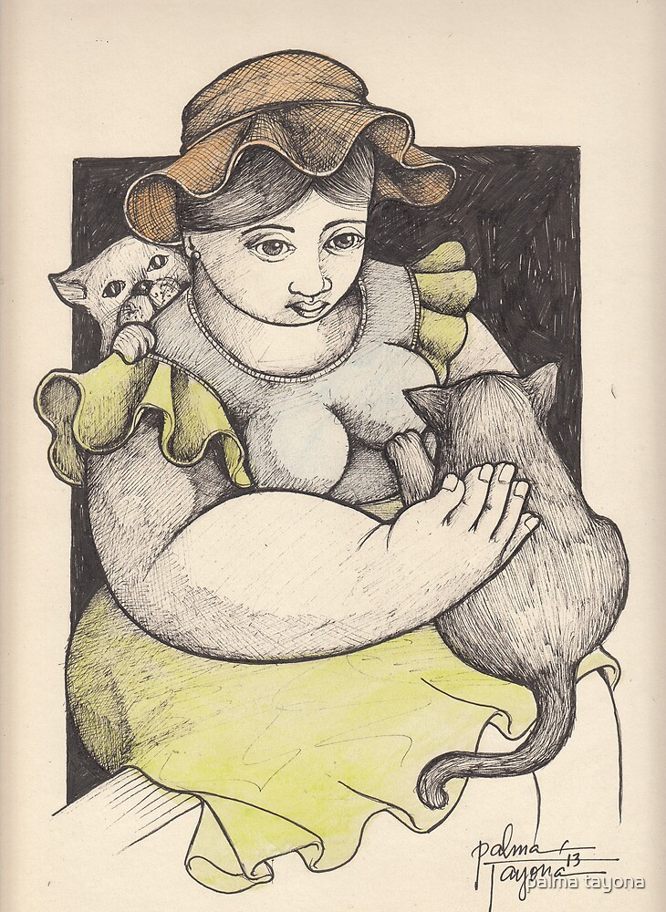 ELSA AND HER CATS by palma tayona
