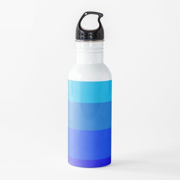 Shades of Blue Neon Stripes  Botella de agua