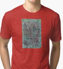 Snow Pines (Dark Green) Tri-blend T-Shirt