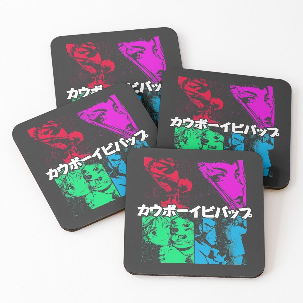 Let's Jam T-Shirt (color) Coasters (Set of 4)