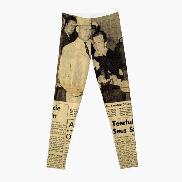 Old Newspaper: Lee Harvey Oswald Shot Leggings