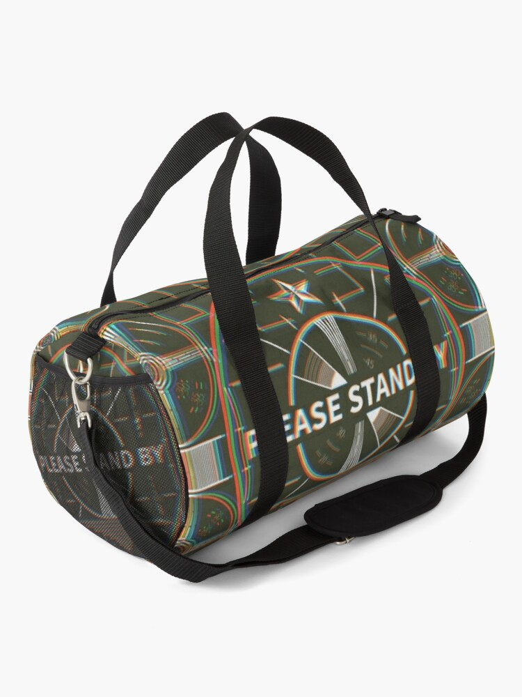 Alternate view of Please stand by Kaliedoscope Duffle Bag