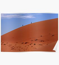 """""""Red Sand Dunes"""" Namibia,  West Africa Poster"""