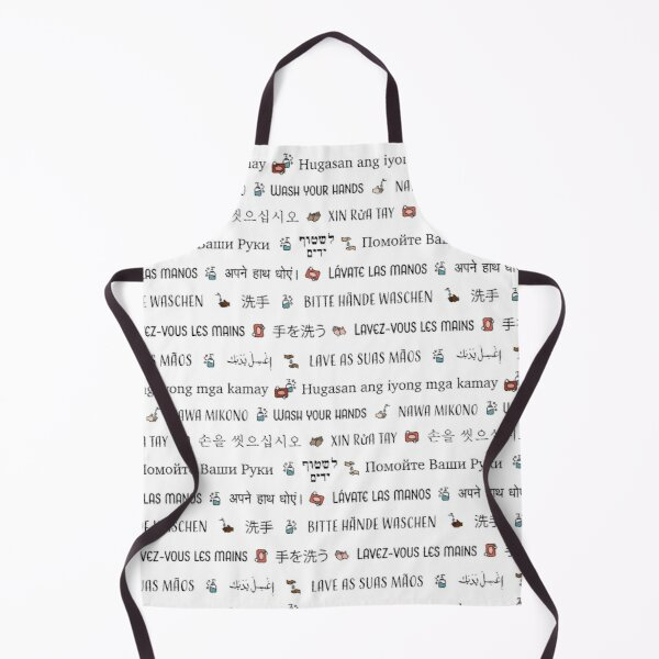 Wash your hands | Multi Language Apron