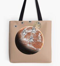 Little monsters on Mars  Tote Bag
