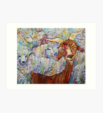 Goat/sheep painting - 2014 Art Print