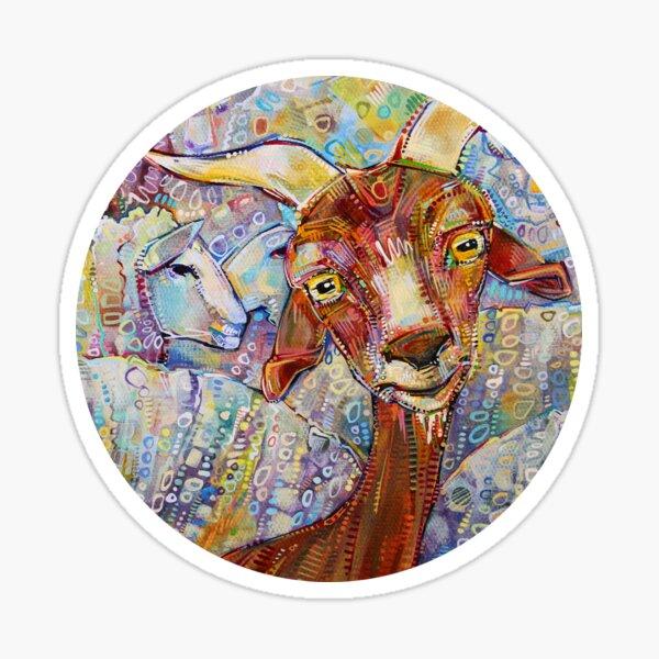 Goat/Sheep Painting - 2014 Sticker