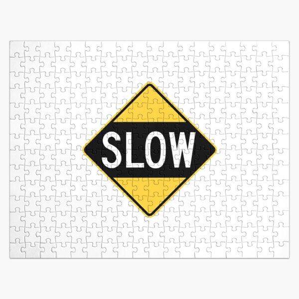 United States Sign - Slow, Old Jigsaw Puzzle