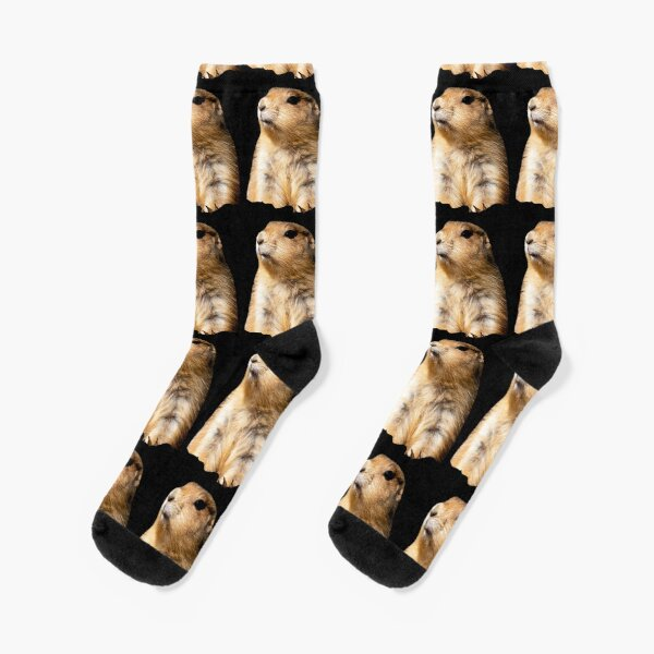Prairie Dog on Alert Socks