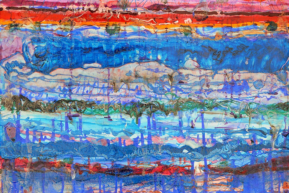 Flow Instability, Acrylic on canvas by Regina Valluzzi