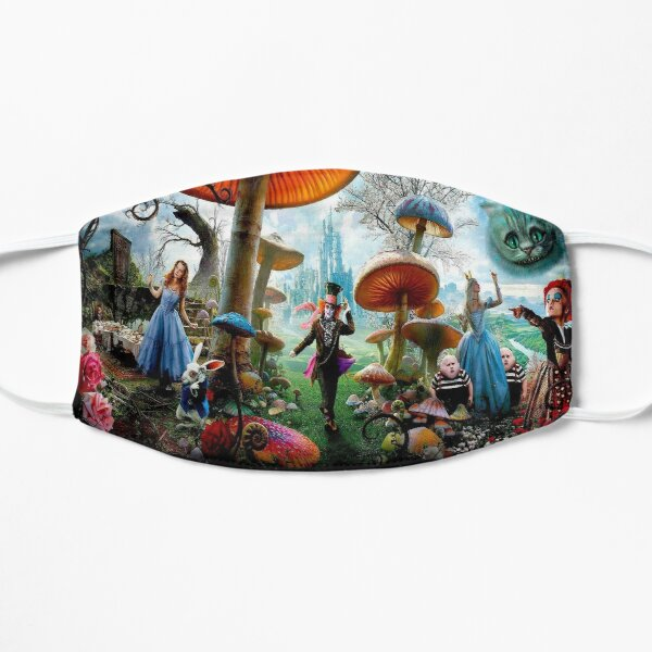 ALICE IN WONDERLAND : Modern Advertising Print Flat Mask