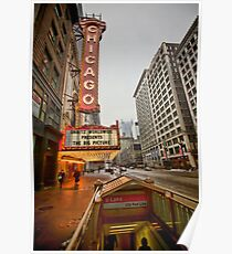 The iconic Chicago theatre sign Poster