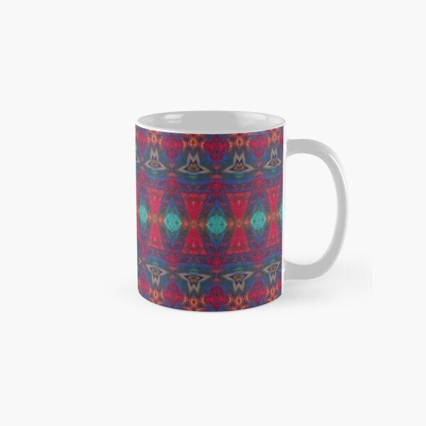 Colorful Boho Red Blue Pattern Classic Mug