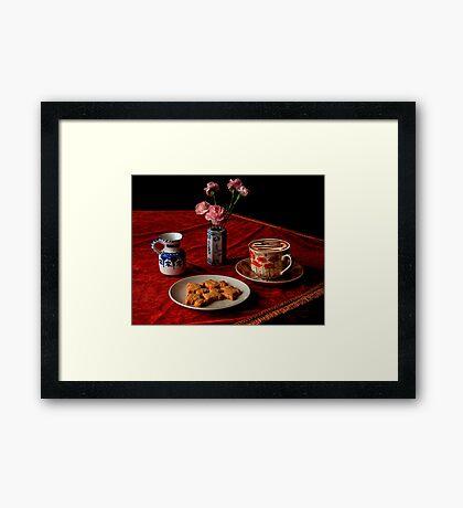 Cappuccino Romance Framed Print