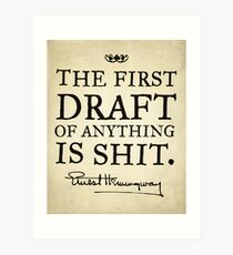 Hemingway First Draft Art Print