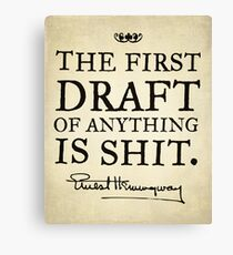 Hemingway First Draft Canvas Print
