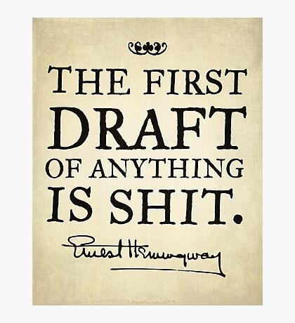 Hemingway First Draft Photographic Print