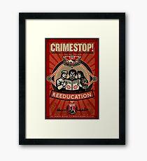 Crimestop 1984 Propaganda Poster Gerahmtes Wandbild