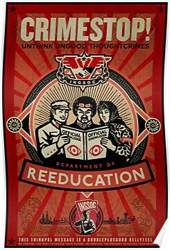 Quot Crimestop 1984 Propaganda Poster Quot Posters By