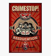 Crimestop 1984 Propaganda Poster Photographic Print