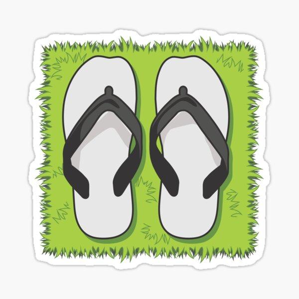 Flip Flops. Pull up a spot on the Grass! Sticker