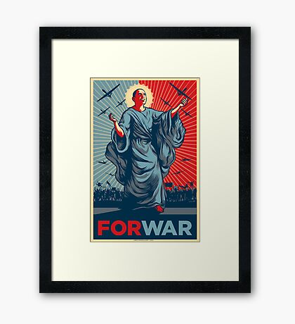 Obama FORWAR Framed Print