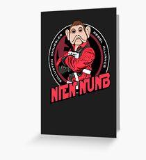 Star Wars Sullustan Smuggler Nien Nunb Crest  Greeting Card