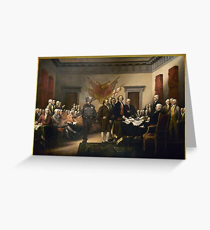 Declaration Of Independence Gas Greeting Card