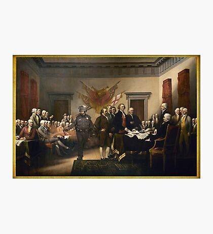 Declaration Of Independence Gas Photographic Print