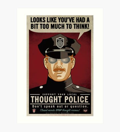 reflection of the thought police vs In the novel nineteen eighty-four (1949), by george orwell, the thought police (thinkpol) are the secret police of the superstate oceania, who discover and punish.