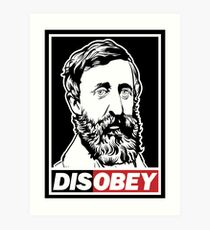 "Henry David Thoreau ""Disobey""  Art Print"