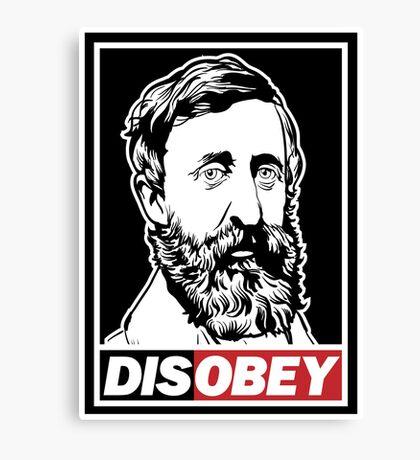 "Henry David Thoreau ""Disobey""  Canvas Print"