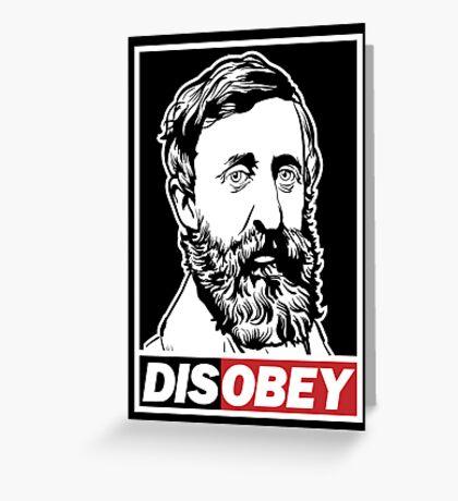 "Henry David Thoreau ""Disobey""  Greeting Card"