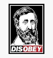 "Henry David Thoreau ""Disobey""  Photographic Print"