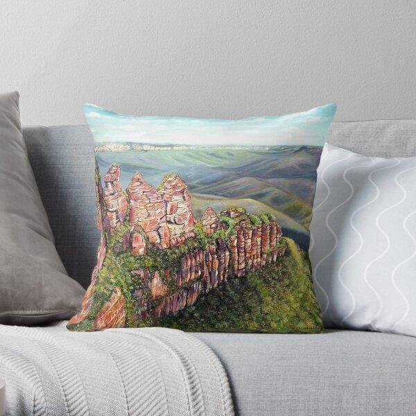 On the Edge, Blue Mountains, Australia Throw Pillow