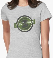 Scurvy Lemon Olive Drab Womens Fitted T-Shirt