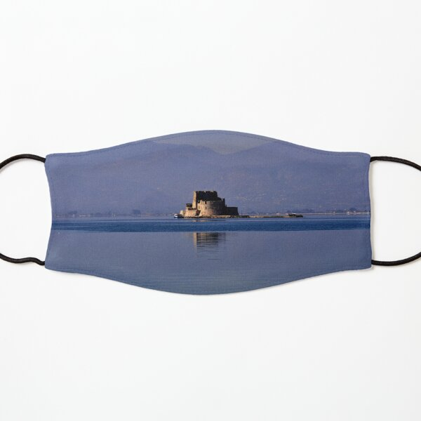 Greek Fortress in the Aegean Sea Kids Mask