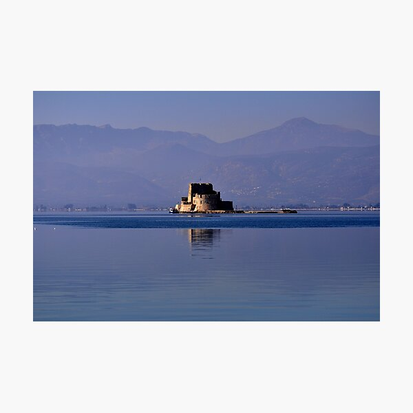 Greek Fortress in the Aegean Sea Photographic Print