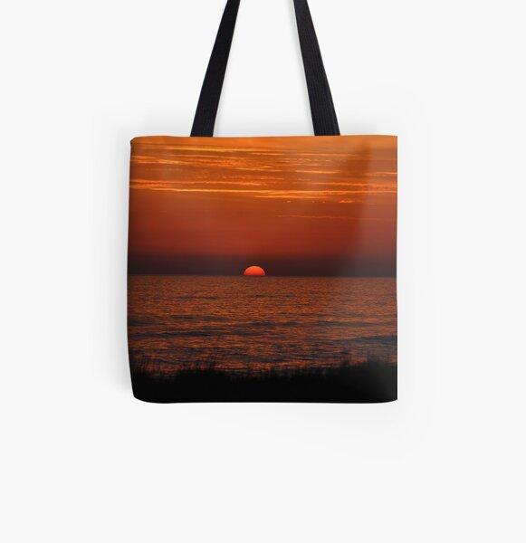 Purple Mediterranean Sunset All Over Print Tote Bag