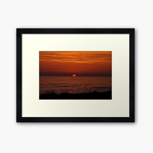 Purple Mediterranean Sunset Framed Art Print